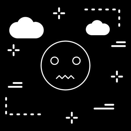 Vector Silent Emoji Icon Illustration