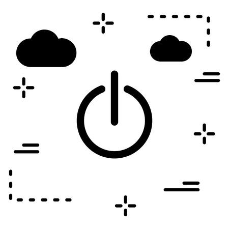 Vector Shutdown Icon Illustration