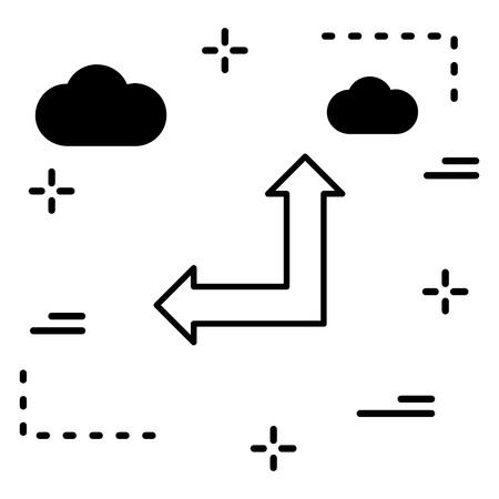 Vector Upward And Leftward Arrow Icon