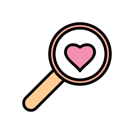 Vector Search Heart Icon