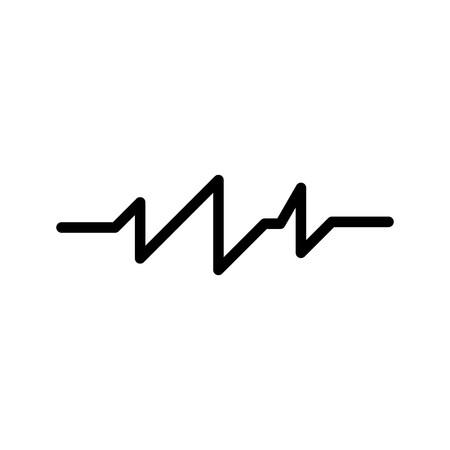 Vector Pulse Rate Icon Иллюстрация