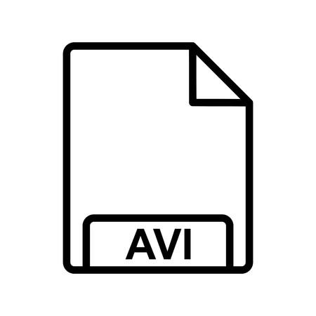 Vector AVI Icon