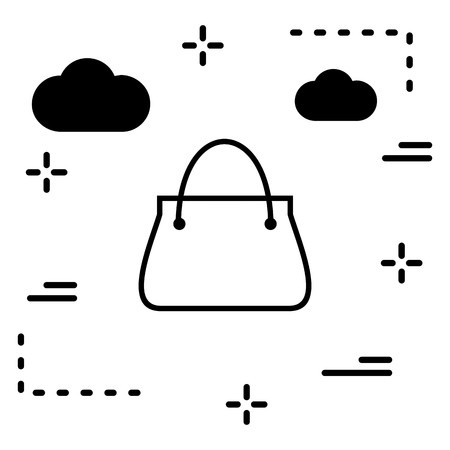 Vector icono de bolso de dama