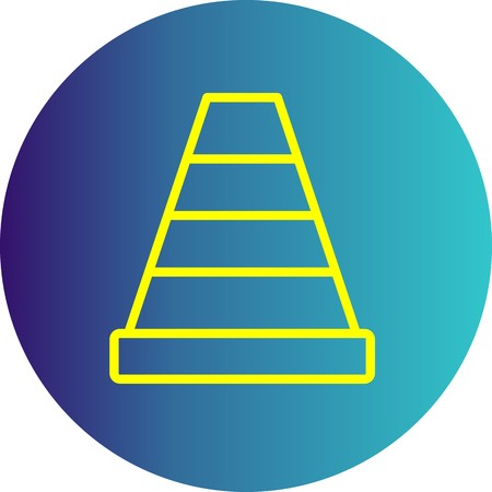 Vector Traffic Cone Icon