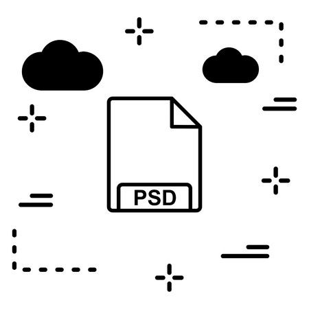 Vector PSD Icon Illustration