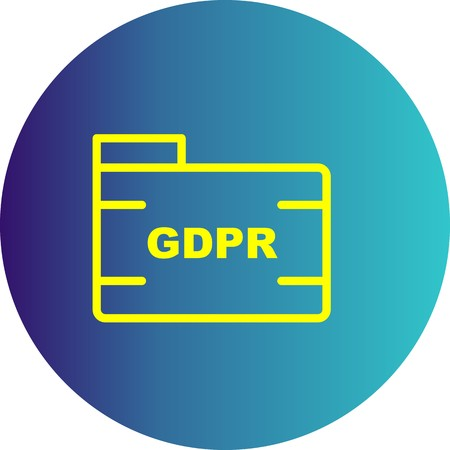 Vector GDPR Folder Icon Çizim