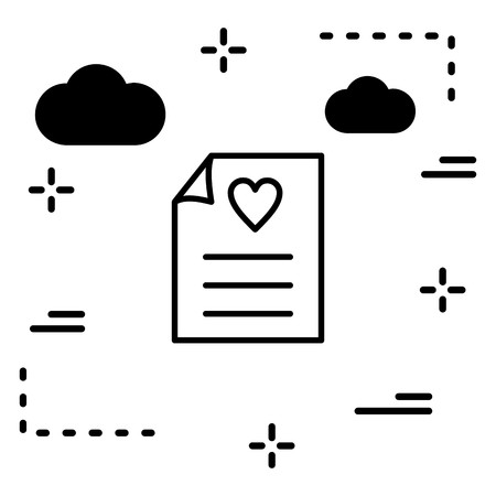 Vector Love Letter Icon Çizim