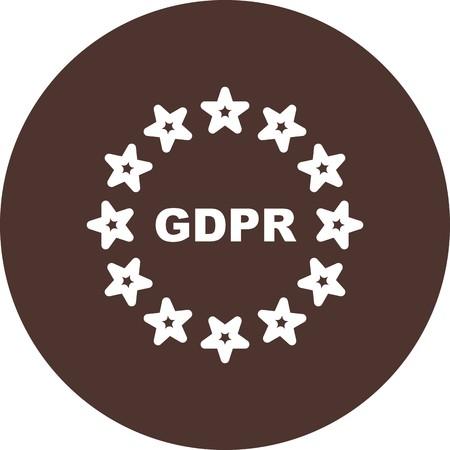 Vector GDPR Symbol Privacy Icon Stock fotó