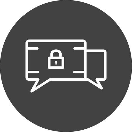 Vector GDPR Message Icon Vector Illustratie