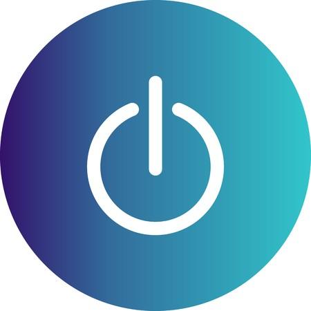 Vector Shutdown Icon Stock Photo