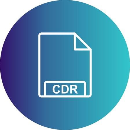 Vector CDR Icon