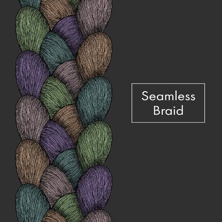 Seamless braid texture