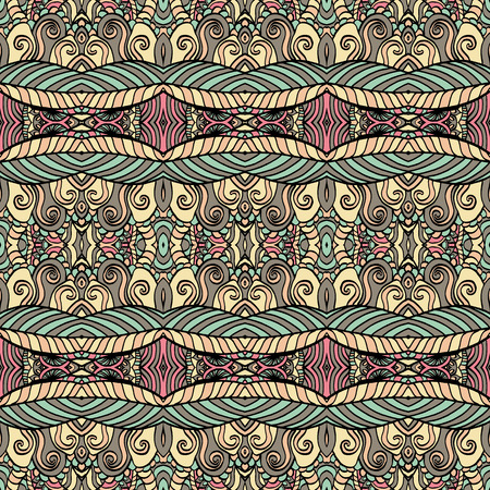 patter: Seamless abstract pattern for printing on fabric or paper. Hand drawn background.