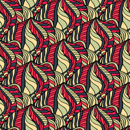Seamless abstract pattern for printing on fabric or paper. Hand drawn background.