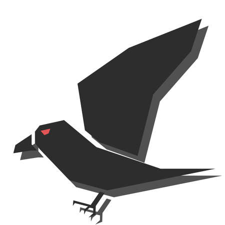 illustration of halloween characters - crow