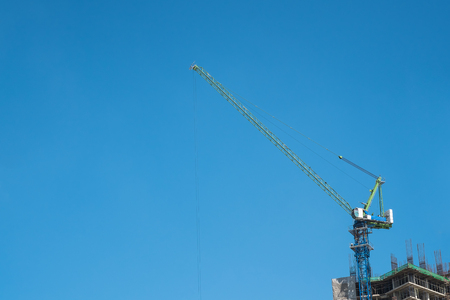tower crane: Tower crane and reinforced building under construction
