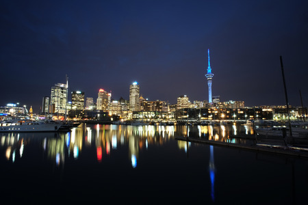 super yacht: Cityscape from Viaduct - Auckland, New Zealand