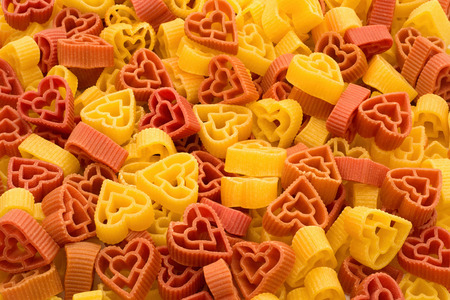 Appetizing Valentines pasta in shape of heart