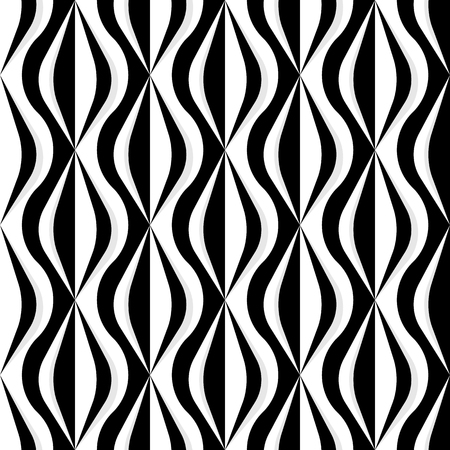 Checker curvy pattern in black and white
