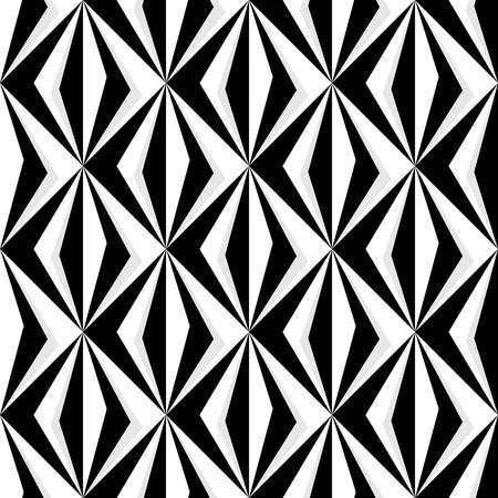 Geometric diamond pattern in black and white