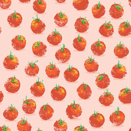 Vector cherry tomatoes seamless pattern background. Perfect for fabric, gift wraps, and wallpaper projects.