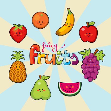 pi�as: Cara feliz jugosa frutas macedonia