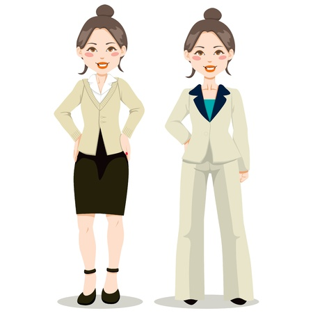 Asian executive woman in fit woman suit and casual clothing style Stock Vector - 10699946