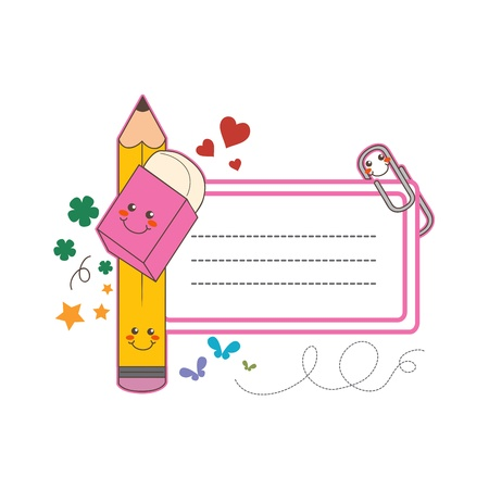 Cute back to school name tag label sticker with copy space Vector