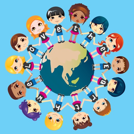 2,794 Hands Around The World Stock Vector Illustration And Royalty ...