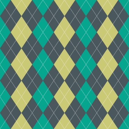 lozenge: Seamless argyle pattern in green colors with white dotted lines