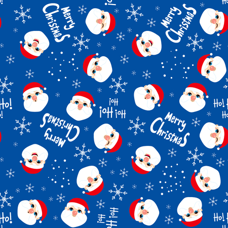 christmas wrapping: Seamless Christmas Santa Claus background pattern tiling texture