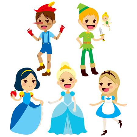 Fantasie kinderen sprookje tekens collectie