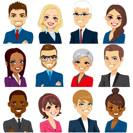 Set van zakenmensen avatar collectie van werknemers team