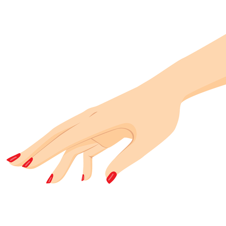 Close up illustration of female hand reaching out beauty concept