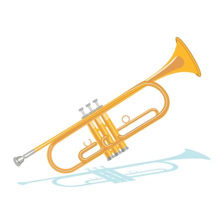 Illustration of brass trumpet philharmonic orchestra instrument