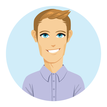 Happy young blonde man smiling cool avatar