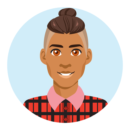 Young attractive latino hipster man portrait avatar