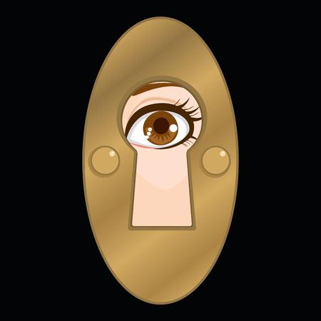 Torcia che gesturing il occhio femminile che sembra concetto di invecchiamento di invecchiamento di pace Vettoriali
