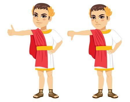 Roman Caesar positive negative thumb deciding gladiator fate
