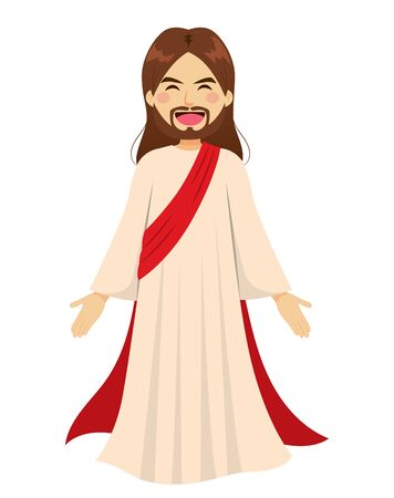 Happy Jesus Christ standing religious symbol character Standard-Bild - 133335315