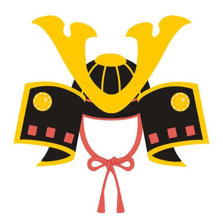 Illustration of cute Japanese helmet decoration for Children's day celebration