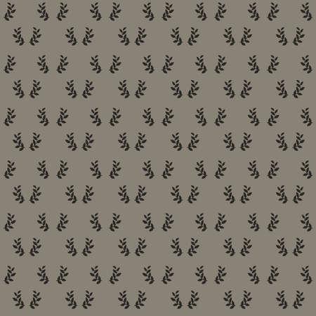 Black laurel wreath icon seamless pattern on dark background triumph symbol concept Illustration