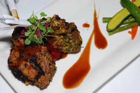 grilled lamb chop Banco de Imagens