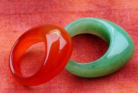 Jade anillo  Foto de archivo