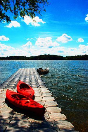 cayak: canoe Stock Photo