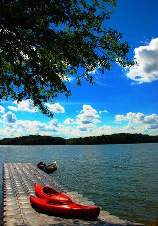 cayak: canoe on the dock 2