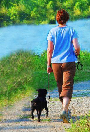 caminar dama Foto de archivo