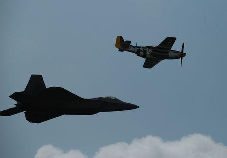 avion de chasse: Jet Fighter et avion de chasse  Banque d'images