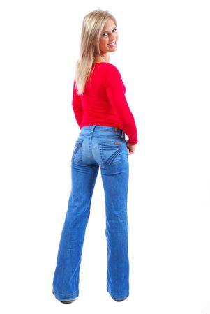 young female showing her back Reklamní fotografie