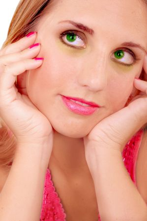 greeneyes: beautiful blond ladys portrait Stock Photo